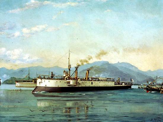 Barco do Porto de Santos ou A Canhoneira Pátria
